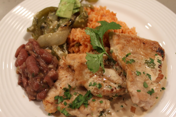 Turkey Medallions with Tequila Lime Sauce
