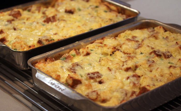 Cheese Strata: Brunch Decadence