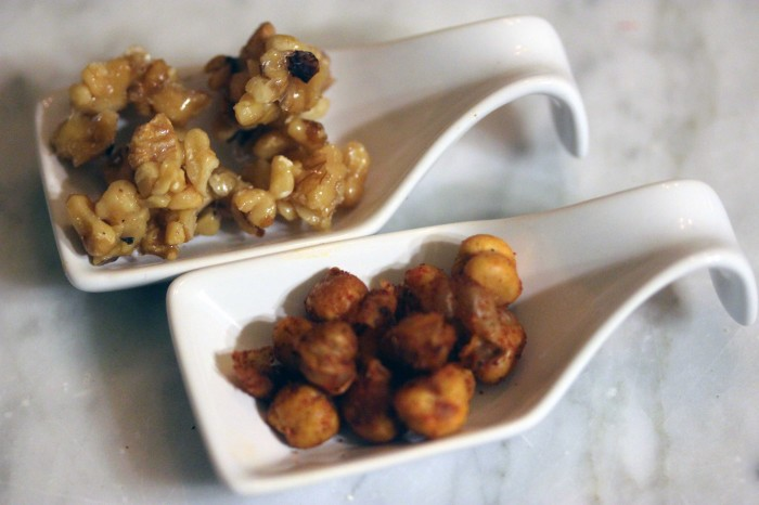 Candied Walnuts and Crispy Roasted Chickpeas