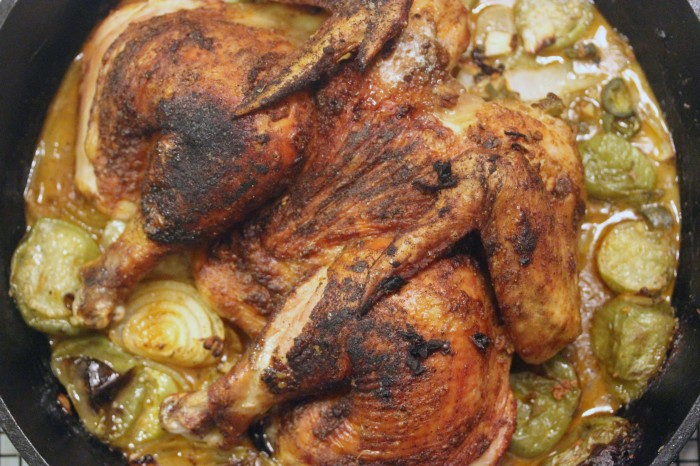 TBT Recipe: Roasted Butterflied Chicken and Tomatillos from Curtis Stone