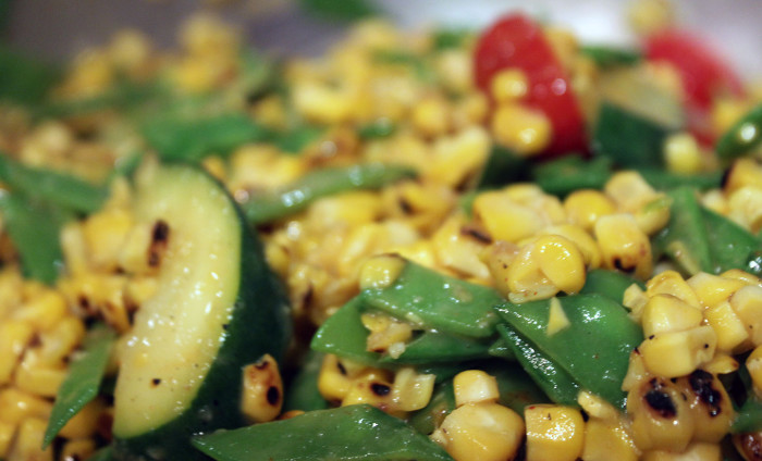 Summer Zucchini and Corn Succotash