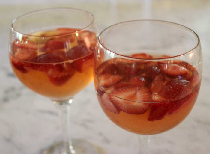 Brian's Strawberry and Plum Sangria