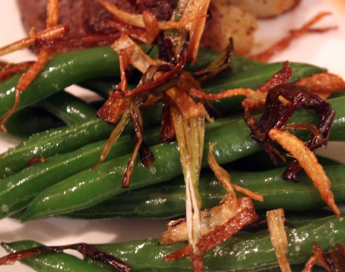 TBT Recipes: Green Beans with Frizzled Scallions and Ginger