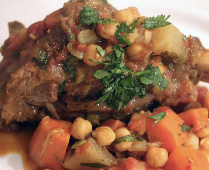 Curried Lamb Shanks with Carrots, Chickpeas and Potatoes