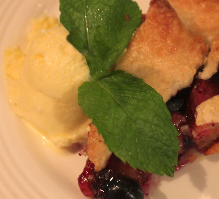 Buttermilk Ice Cream for a Fresh Fruit Galette