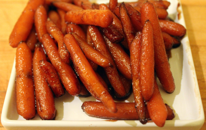 Bourbon and Honey Glazed Carrots from Bourbon by Kathleen Purvis
