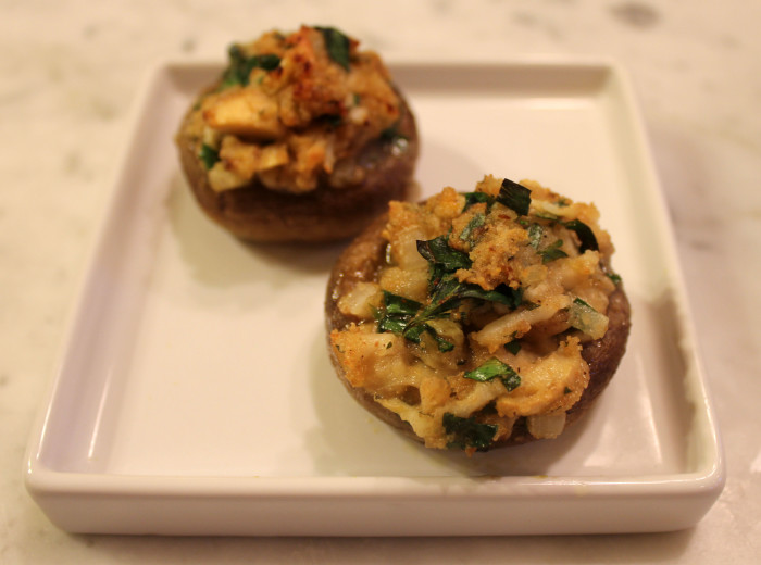Mushrooms Stuffed with Lemon