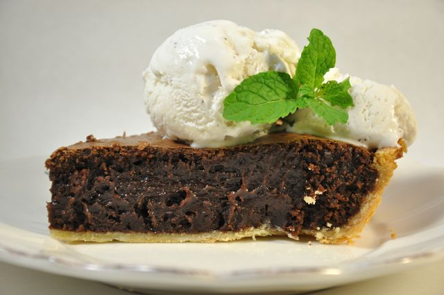 Mint Chocolate Brownie Pie from Ken Haedrich