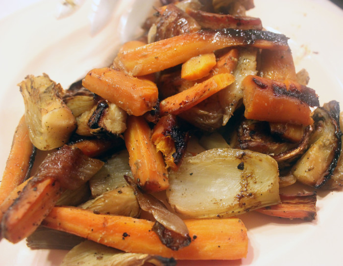 Roasted Vegetables with Miso Sauce from Fermented by Charlotte Pike