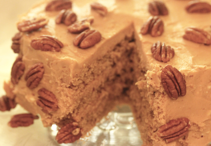 TBT Recipe: Coffee-Walnut Layer Cake [okay, I used pecans!]