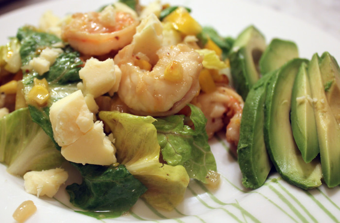 Shrimp and Caramelized Onion Salad