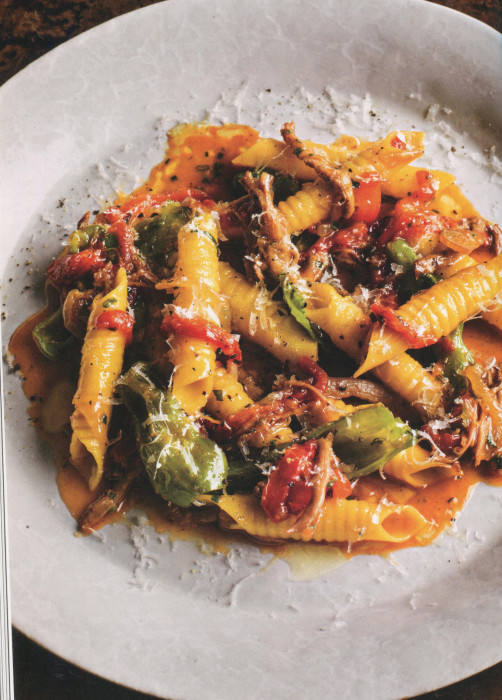 Wc Garganelli With Chicken Sugo And Peppers