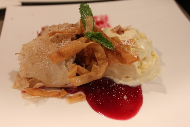 Fresh Seasonal Strudel and Vanilla Bean Ice Cream