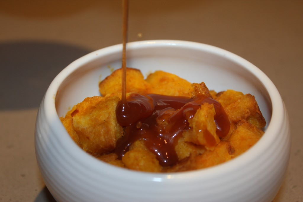 Pumpkin Bread Pudding with Whiskey Hard Sauce - Cooking by the Book