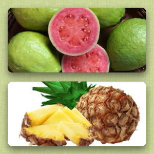 Guava and pineapple