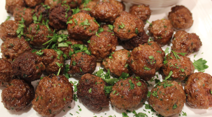 Spiced Lamb Meatballs With Garlicky Yogurt Sauce | Cooking by the Book