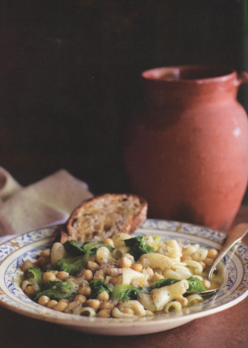 wc-Pasta-with-Chickpeas,-Pancetta,-Garlic-and-Escarole