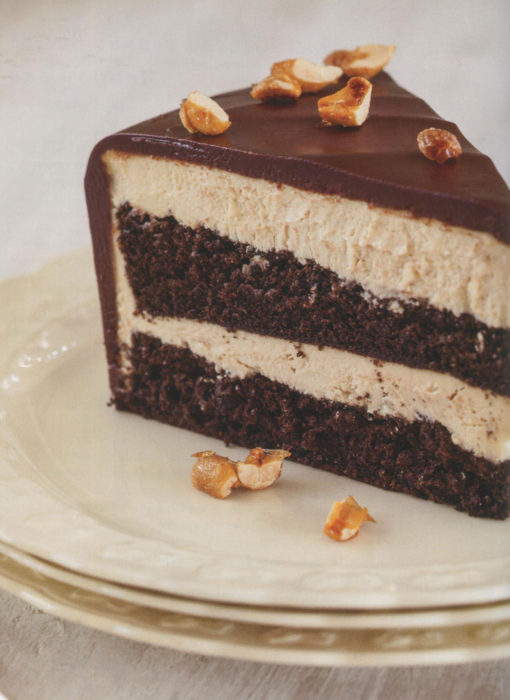 Chocolate-Glazed Peanut Butter Mousse Cake from Flavorful ...
