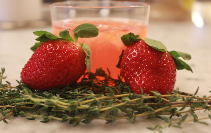 Strawberry Memory Heaven Cocktail from Wild Cocktails by Lottie Muir