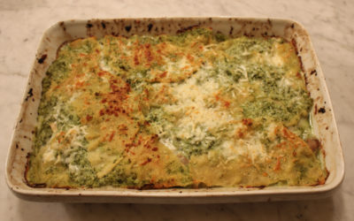 Green Chicken Chilaquiles Casserole from Mesa Mexicano