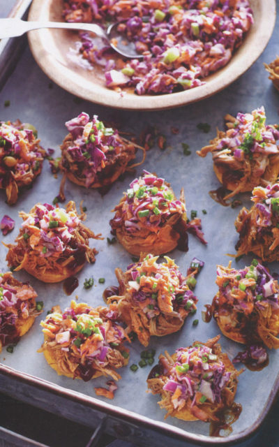 Petite Sweet Potato Biscuits with Pulled Pork and Slaw from The South's Best Butts