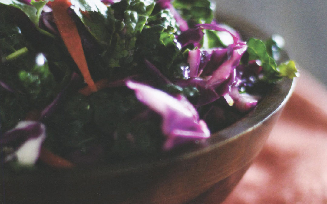 Zesty Kale Slaw from Let Them Eat Kale! by Julia Mueller