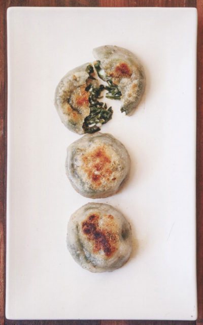 Chive Cakes from The Slanted Door