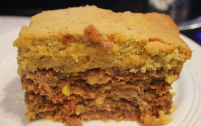 Picadillo Loaf in a Cornmeal Crust
