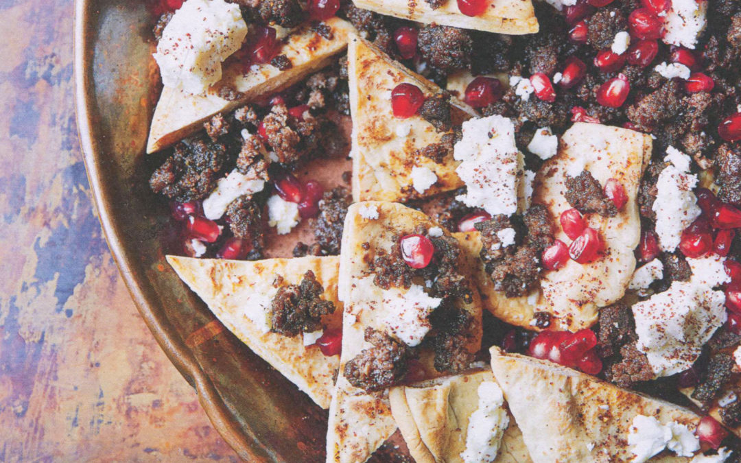 Middle Eastern Lamb Nachos from John Whaite's Perfect Plates in 5 Ingredients