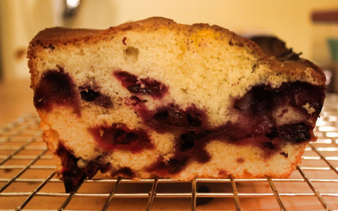 Back Bumper Blueberry Cream Cheese Pound Cake from Ken Haedrich