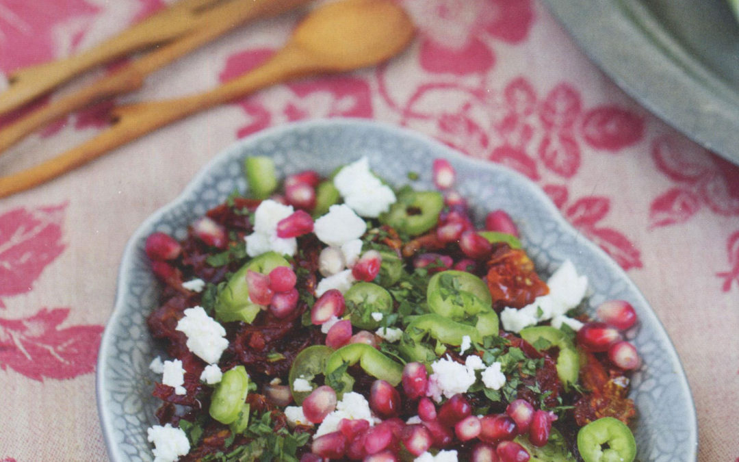 Sun Dried Tomato and Pomegranate Salad from Istanbul & Beyond