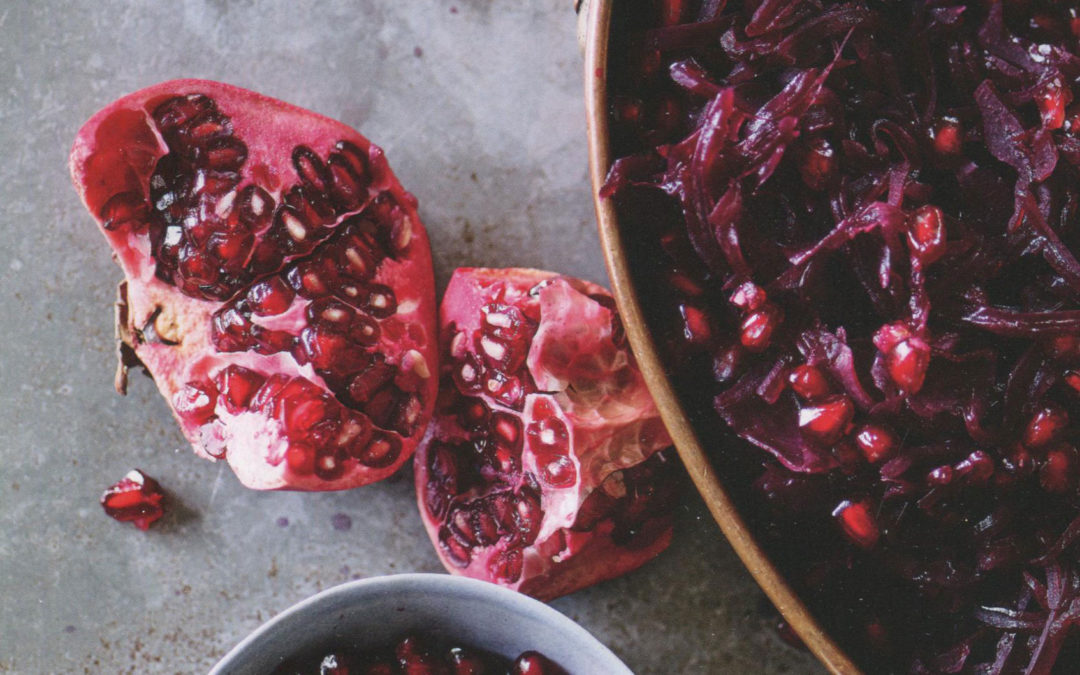 Braised Sour Red Cabbage with Pomegranate